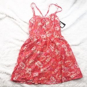 NWT GUESS Printed Lace Dress